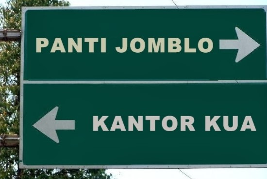 Jomblo sign