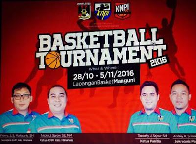 Basketball Turnamen antar Club yang digelar KNPI Minahasa