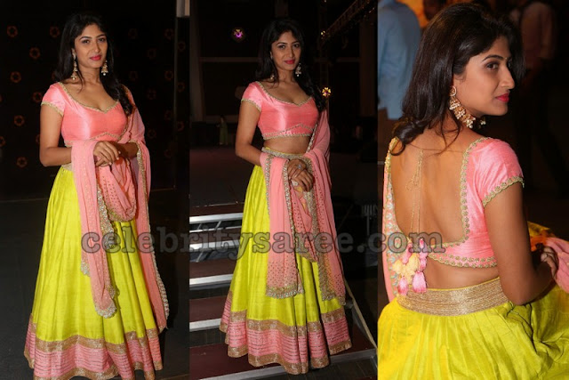 Roshini Prakash yellow Lehenga