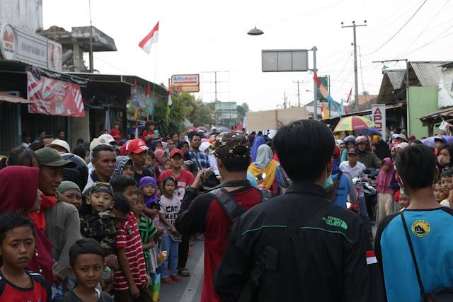 Ribuan peserta mengikuti kegiatan Karnaval Kec. Ambarawa Kab. Pringsewu
