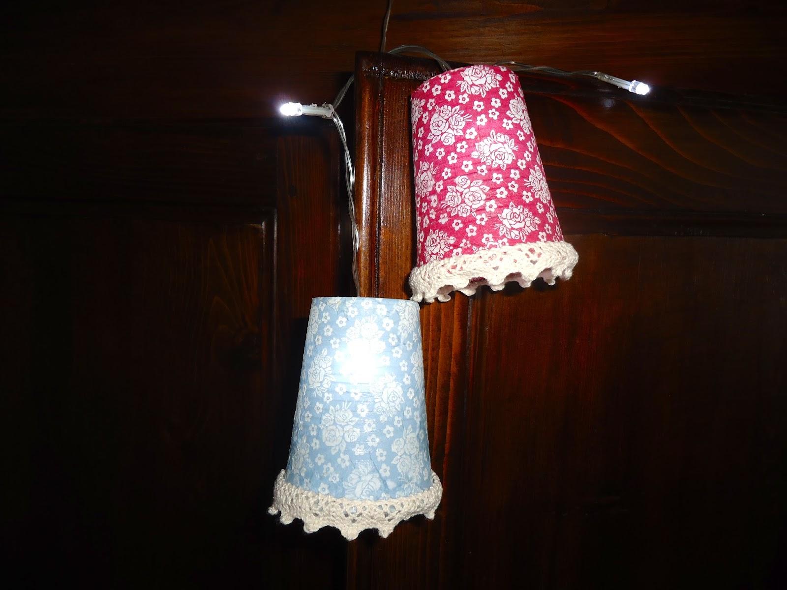 casa rosamunda - Paralume Con Bicchieri Di Carta