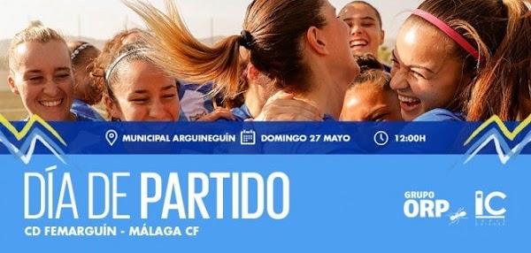 El Málaga Femenino dará la convocatoria una hora antes del partido contra el Femarguín
