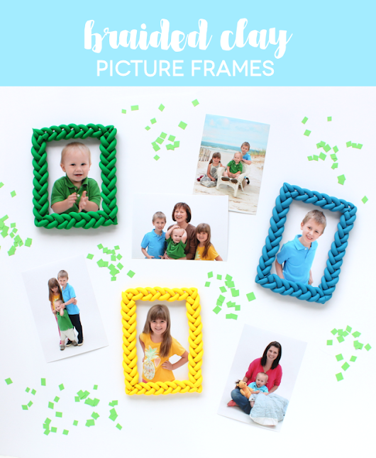 Lines Across: Braided Clay Picture Frames