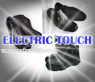 sepatu,sandal,selop,listrik,super sakti,electric touch atau et