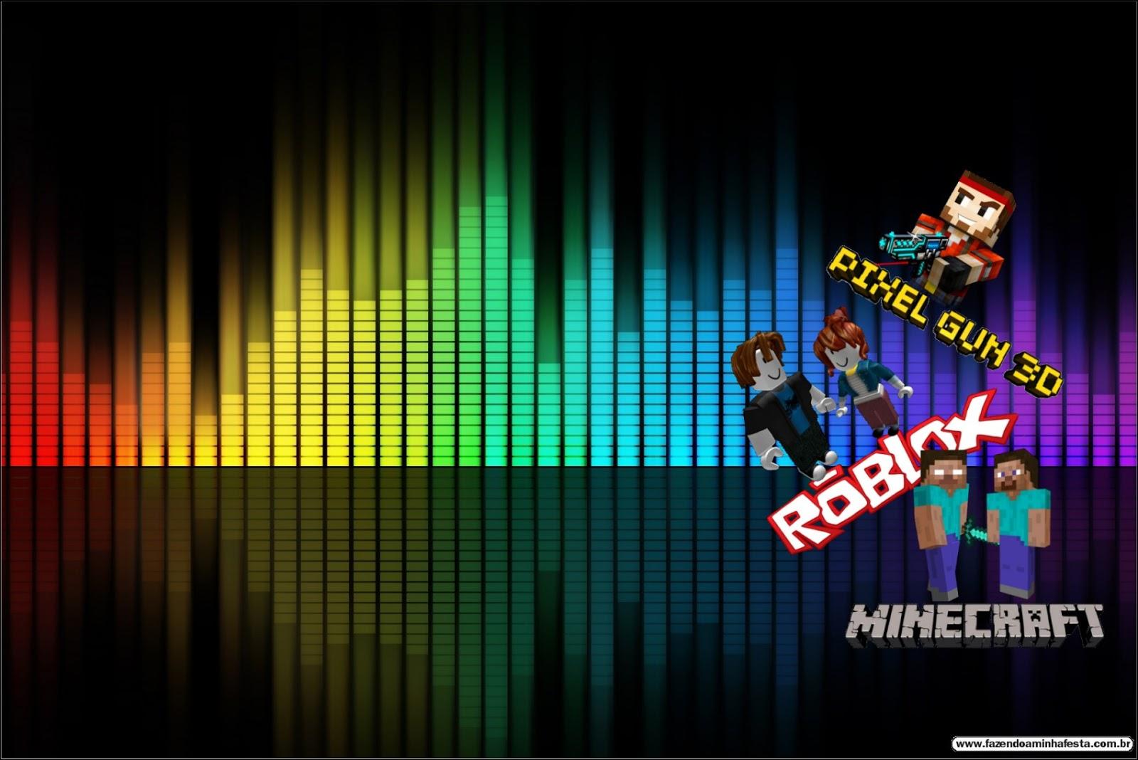 Pixel Gum 3d Roblox Y Minecraft Invitaciones Para Imprimir