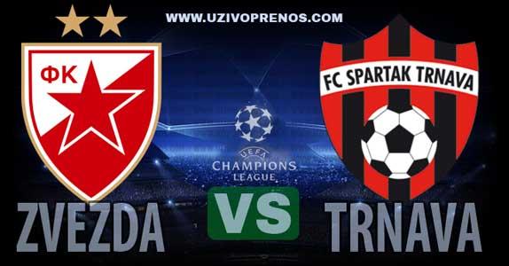 Liga šampiona: Crvena zvezda - Trnava uživo prenos [07.08.2018. 20:30 SportKlub]