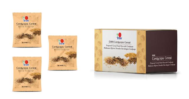 Disfruta tu día con DXN Cordyceps Cereal que contiene avena, trigo y agregado extracto de Cordyceps. Con el gran sabor a chocolate, DXN Cordyceps Cereal es una excelente opción de fibra alimentaria para todos, y que puede ser disfrutada en cualquier momento y en cualquier lugar.