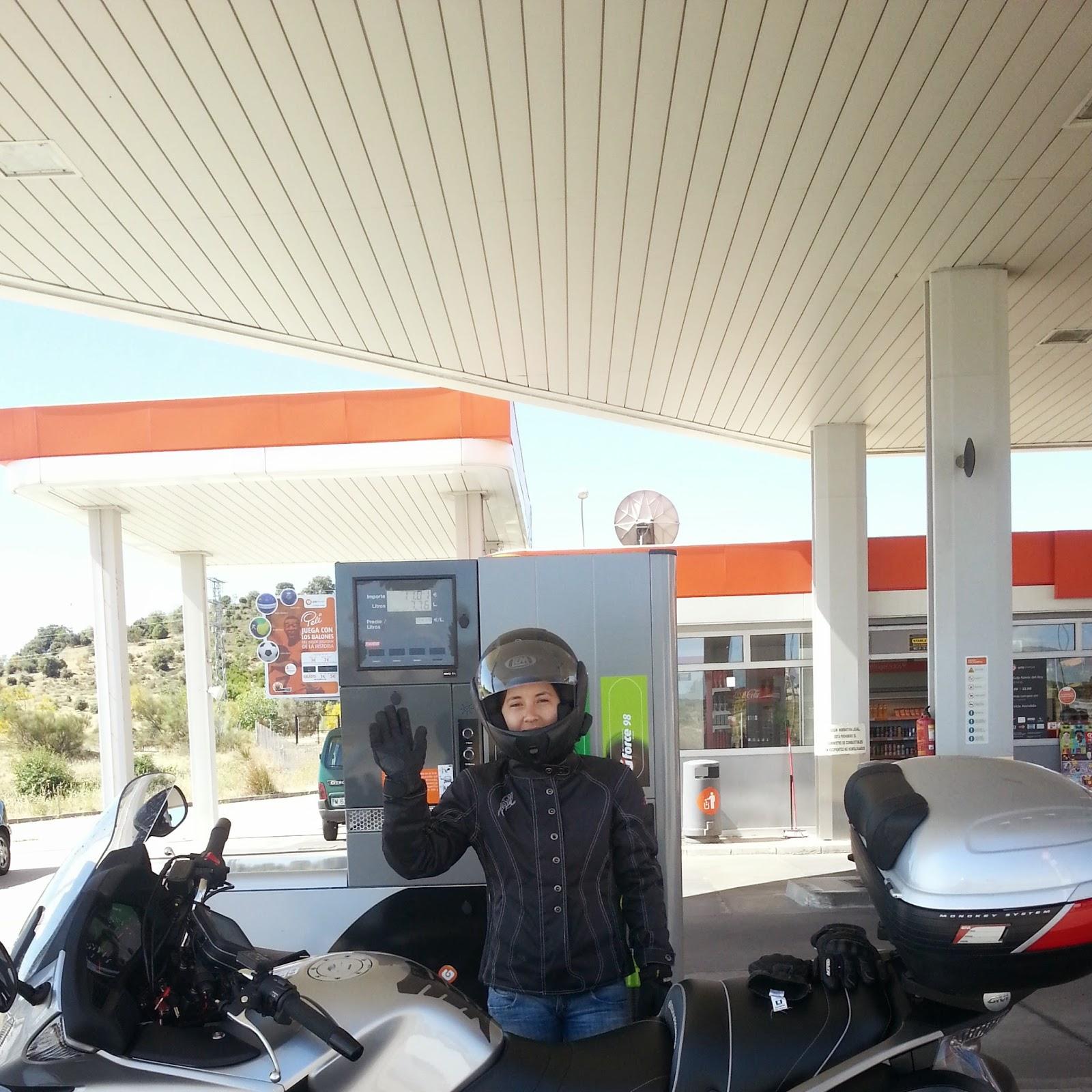 RUTA EN MOTO 126 Km SANTA MARIA DE LA ALAMEDA