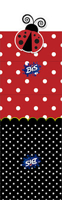 Ladybug Party Free Printable Gum or Nuggets Wrappers