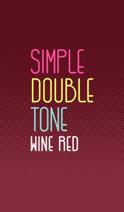 シンプル・ダブルトーン (Wine Red) [w]