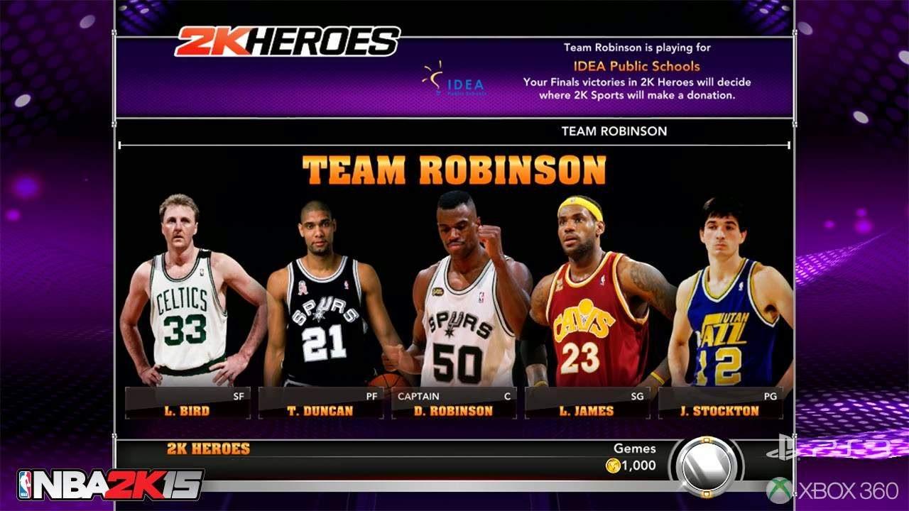NBA 2k15 2k Heroes Mode : Team Robinson