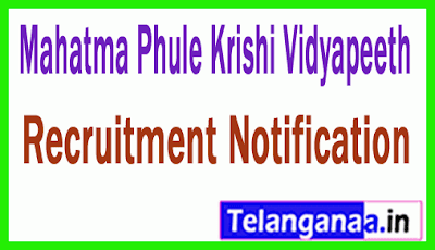Mahatma Phule Krishi Vidyapeeth MPKV Recruitment Notification