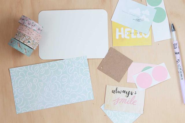 DIY: cómo hacer una tarjeta para decorar tu agenda y snail mails