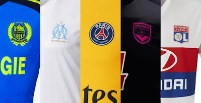 PES 6 Ligue 1 2017/18 Kits-Pack completo