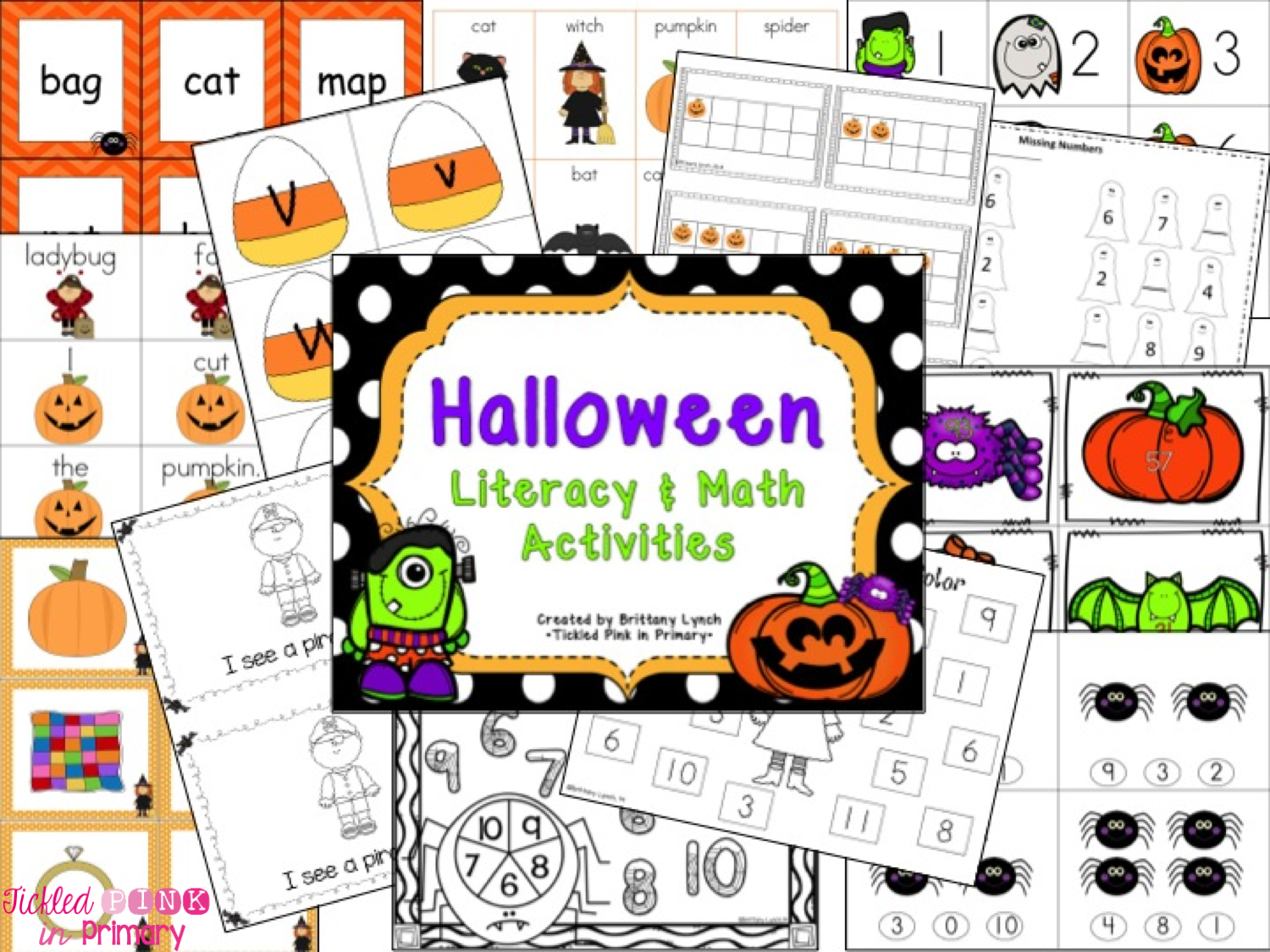 Literacy Amp Math Center Activities For Halloween Tickled