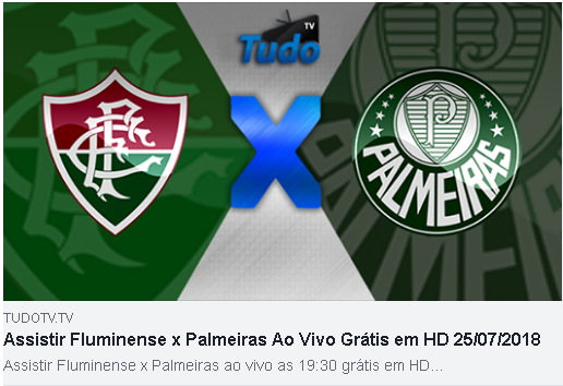 ASSISTIR FLUMINENSE X PALMEIRAS AO VIVO GRÁTIS EM HD 25/07/2018 (TV TUDO)