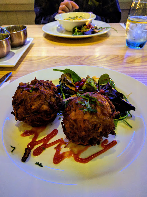 Onion Bhajees at Viceroy Tandoori