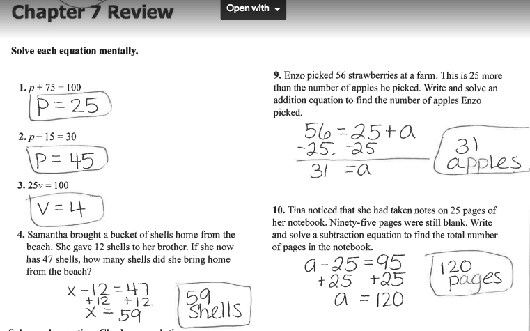 Grade 6 Math with Ms. Eringis : REVIEW SHEET ANSWER KEY ...