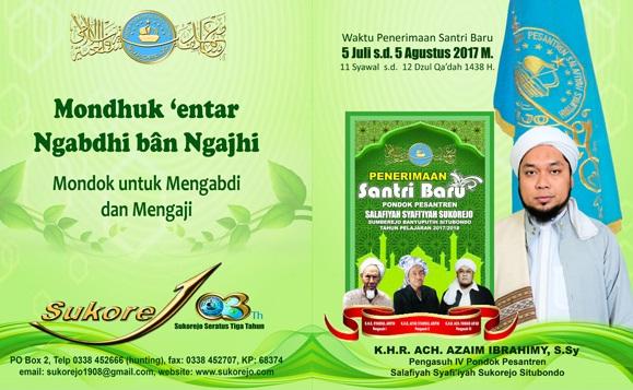 Pendaftaran Santri Baru Pondok Pesantren Sukorejo 2017-2018