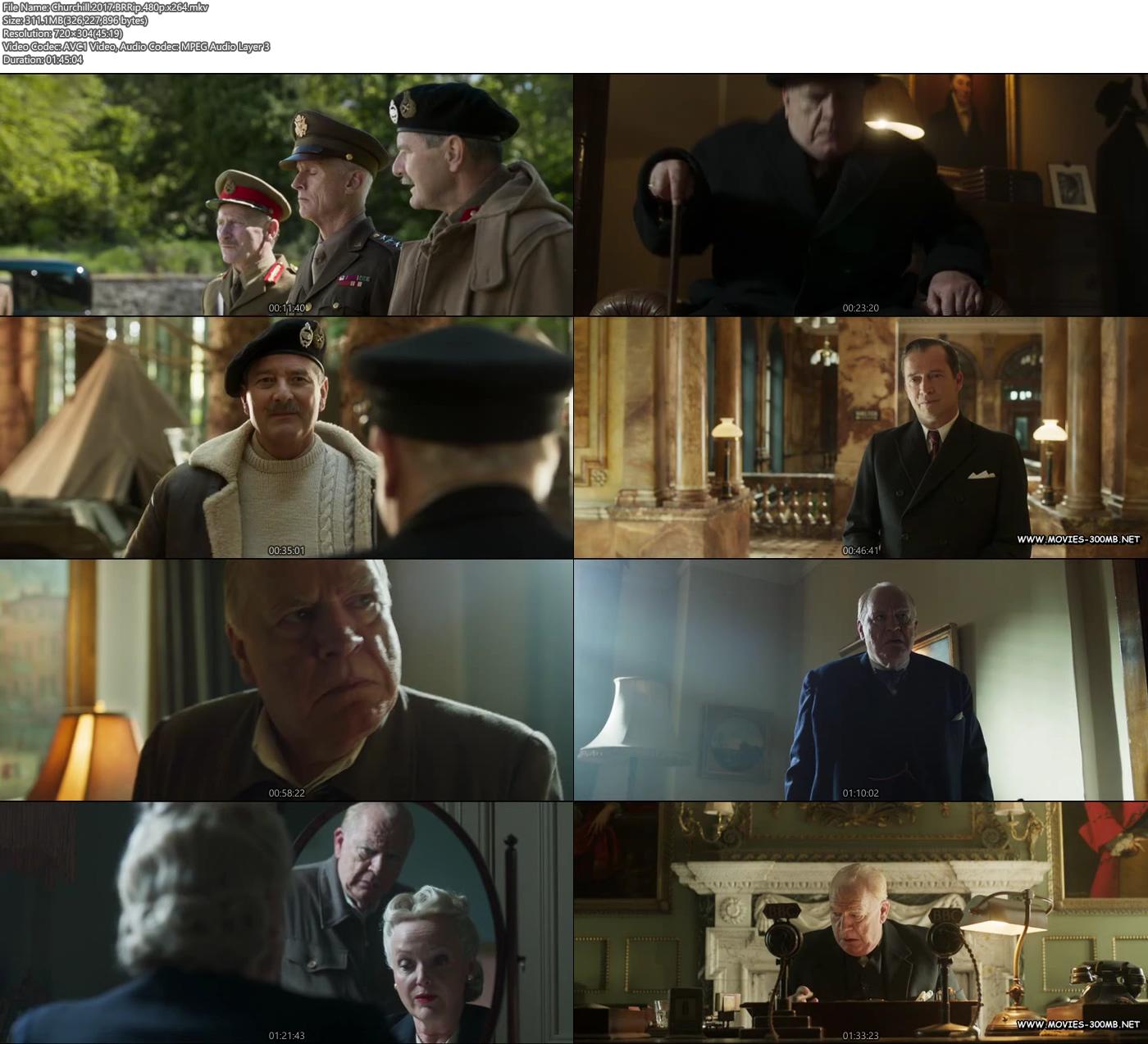 Churchill 2017 BRRip 480p x264 Hollywood 300MB Movie Screenshot