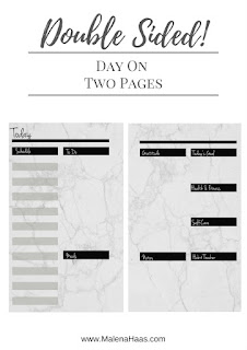 Double Sided Day On Two Pages Printable Insert www.MalenaHaas.com