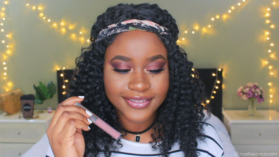 Colourpop ultra glossy lip finders keepers on woc with brown lipliner