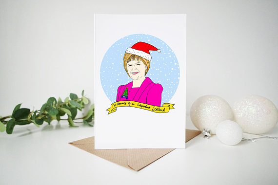 Christmas cheer part 2 cards and decorating scottish home style from a joke about a fish to scotlands equivalent of luke skywalker nicola sturgeons become more like our mascot than just a politician m4hsunfo