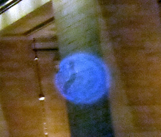 striped blue orb