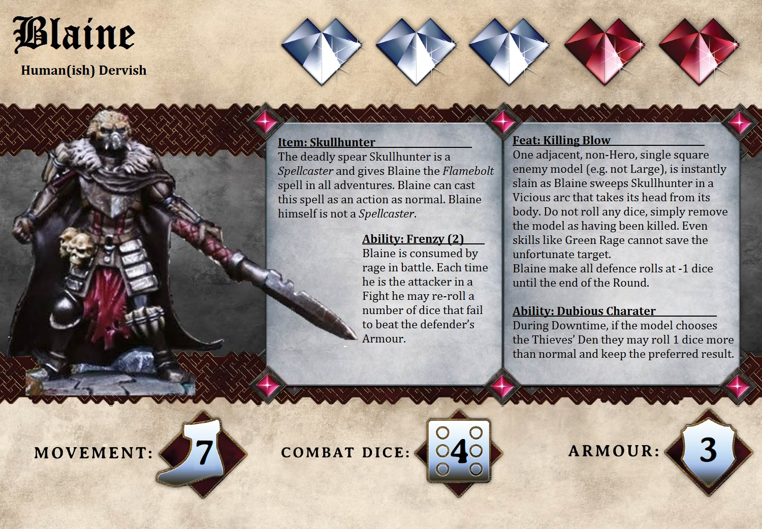 character card template dungeon saga dwarf king s quest
