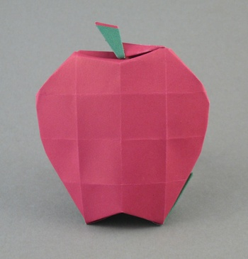 Origami apple redpaper 3d ~ origami instructions art and craft ideas.