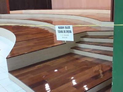 Project Lantai kayu Merbau di Direktorat ajudan jendral angkatan darat, Bandung