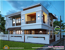 2450 Square Feet Villa View Night - Kerala Home Design And