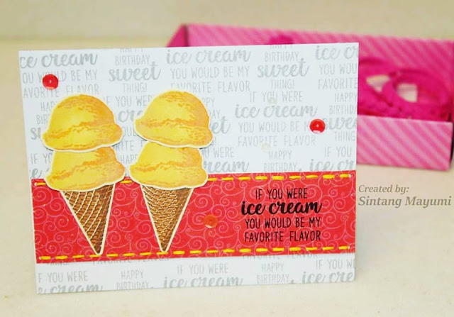 Sunny Studio Stamps: Two Scoops Customer Card Share by Sintang Mayumi