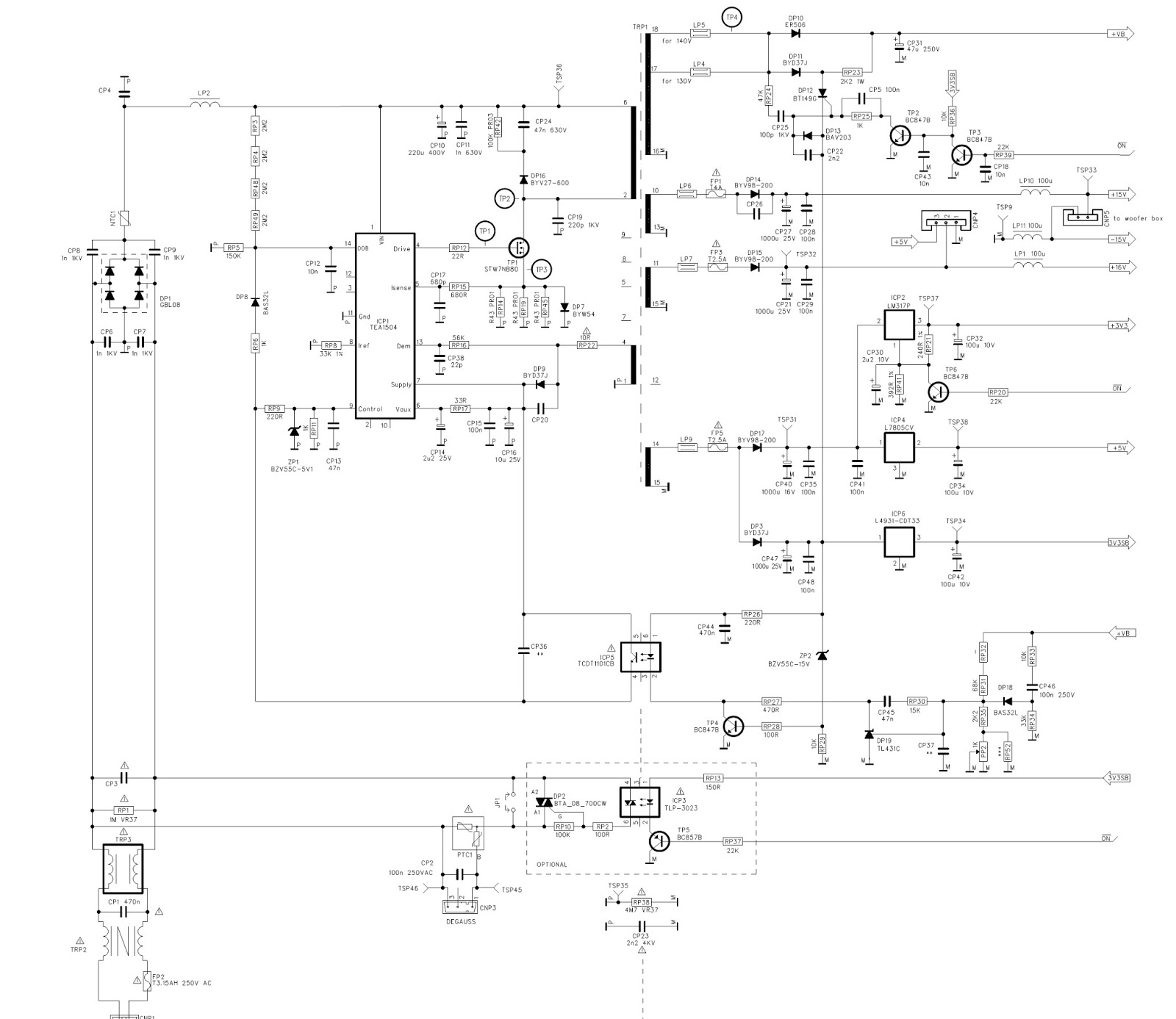Regulator schematic click on image to enlarge