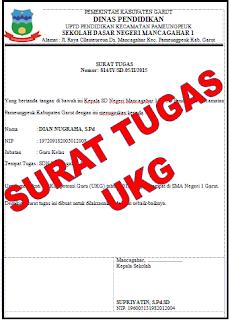 Contoh Surat Tugas Uji Kompetensi Guru (UKG)