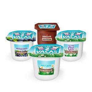 Prueba los yogures ecológicos las 2 Vacas