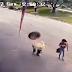 IMAGEM FORTE: Homem é atingido violentamente na cabeça por pneu, assista o vídeo