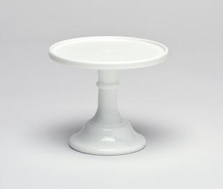 mosser glass white cake stand
