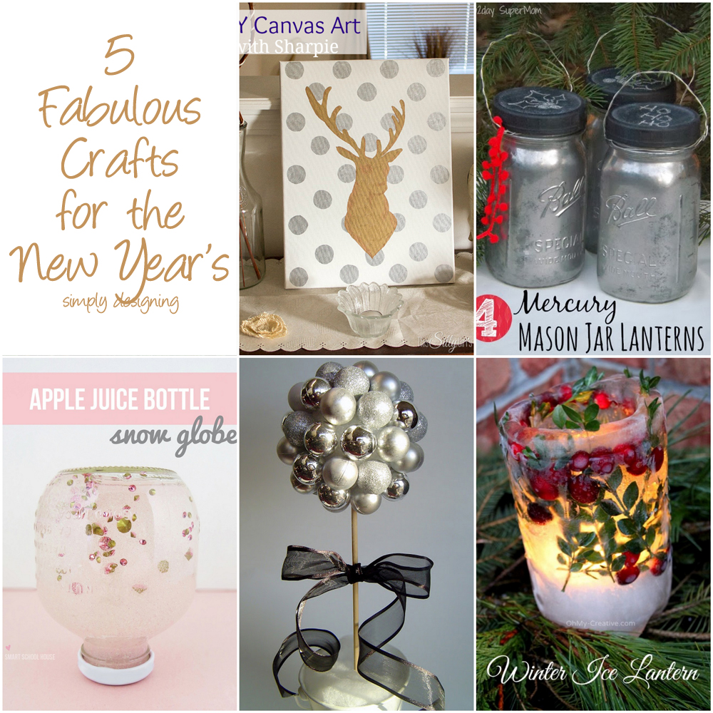 5 Fabulous Crafts for the New Year's | #crafts #diy #whimsywednesdays
