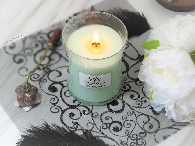 avis bougie sweet lime gelato woodwick candle