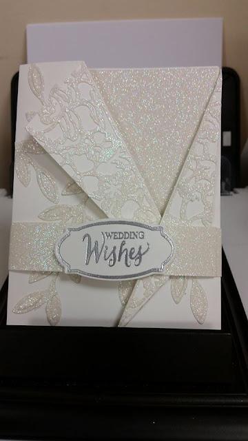 Sarina's wedding card zena kennedy independent stampin up australia