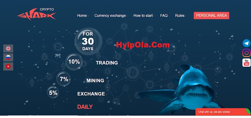 [SCAN] Crypto-Shark.Com - Site chiến nhanh hoàn hảo, lãi từ 5% hằng ngày, thanh toán tức thì