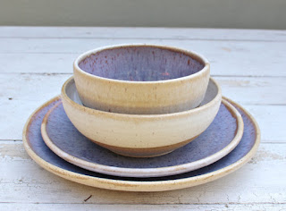 j clay pottery place setting