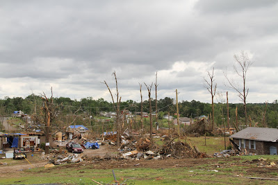 A Tornado Ravaged Neighborhood