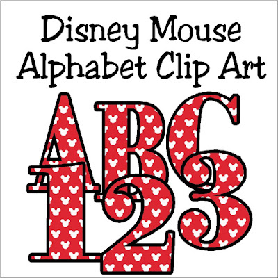 Decorate your Disney Scrapbook pages or Disney crafts with this cute Mickey Mouse alphabet.  With a png background and all 26 letters as well as number 0-9, you'll be crafting with the Mouse in perfect Disney style.