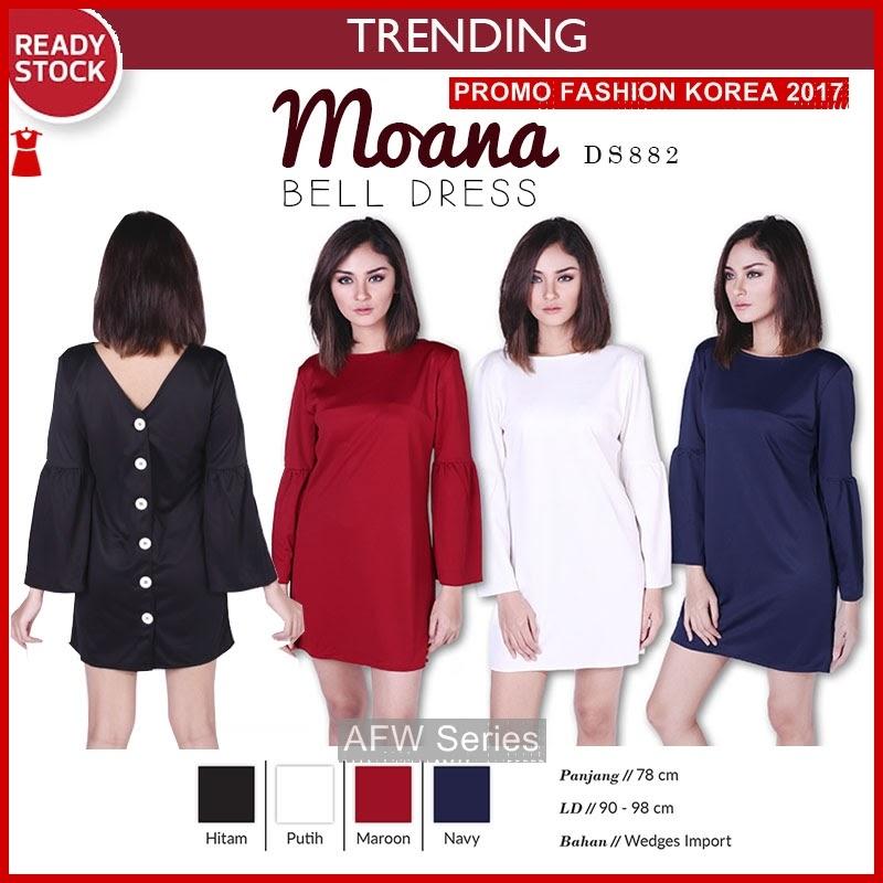 BAMFGW133 Moana Dress Plain Wanita PROMO BMG