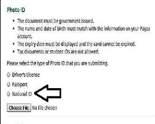 upload passport,ktp atau sim dokumen