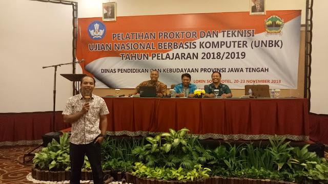 Pelatihan Proktor dan Teknisi Tingkat Provinsi Jawa Tengah Tahun 2018/2019