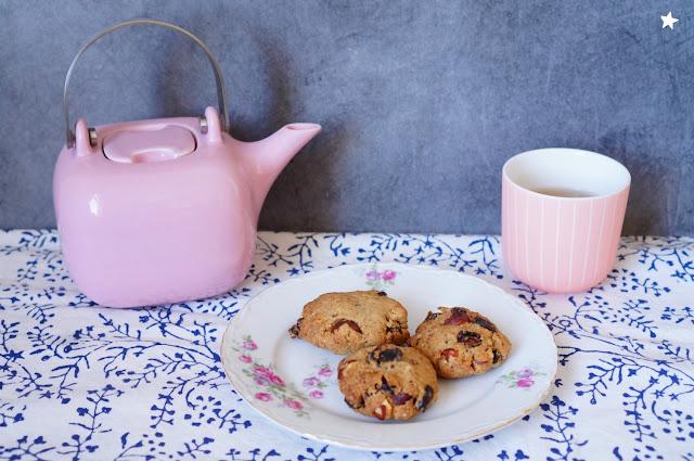 cookies aux fruits secs IG bas vegan goûter dessert