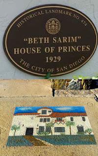 Мемориальная надпись перед Бет-Саримом